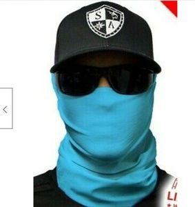 SKY BLUE Tubular Bandana Face Shield Balaclava